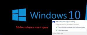 Malwarebytes won t open